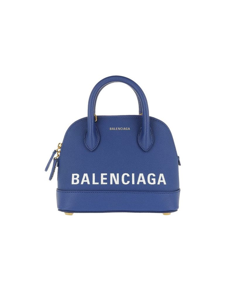 Balenciaga Designer Handbags, Ville Top Handle Bag XXS Blue