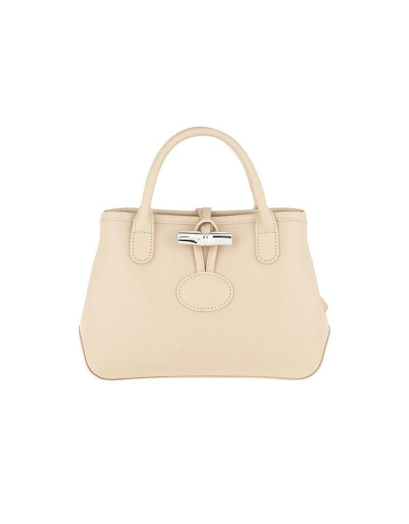 Longchamp Designer Handbags, Roseau Crossbody Bag Leather Ivory