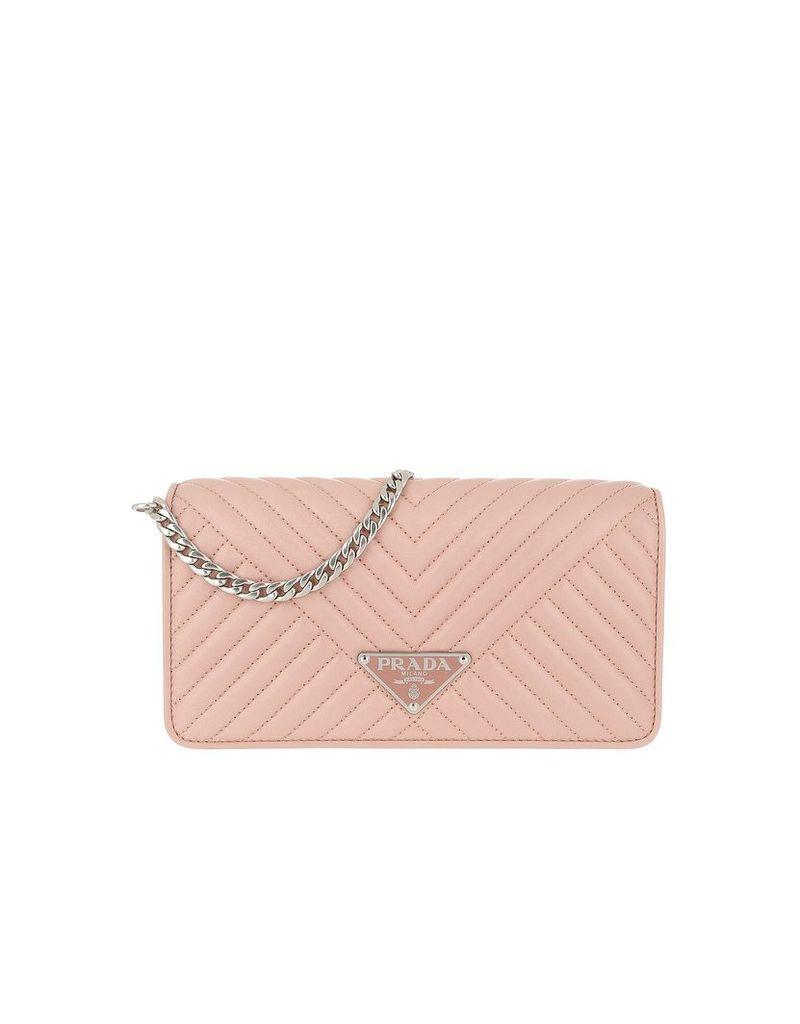 Prada Designer Handbags, Mini Crossbody Bag Quilted Leather Orchidea