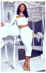 White Midi Skirt, White