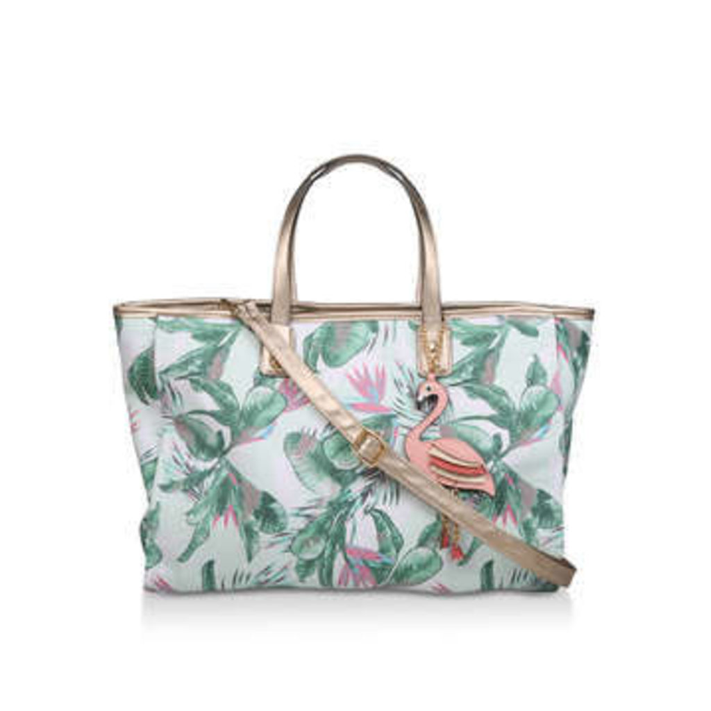 Aldo Celladati - Floral Printed Beach Tote Bag