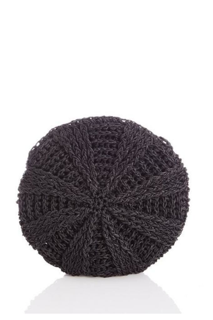 Quiz Black Crochet Circle Bag