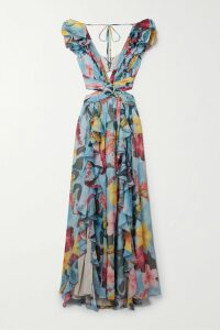 Missoni - Pleated Metallic Crochet-knit Maxi Dress - Pink