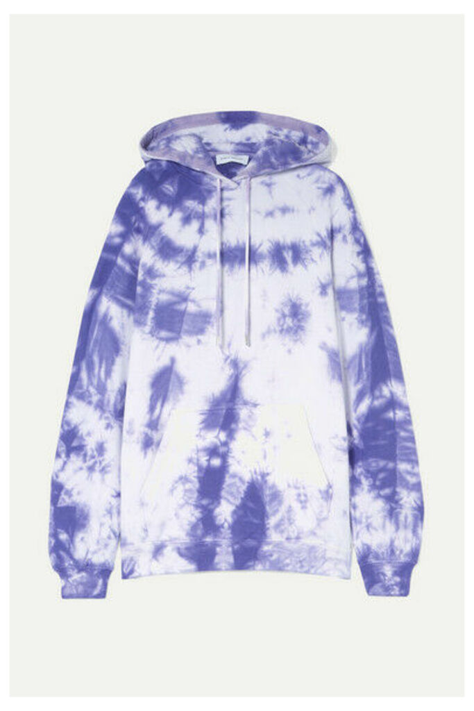 Ninety Percent - Tie-dyed Cotton-jersey Hoodie - Purple