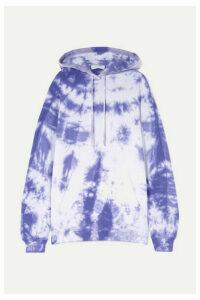 Ninety Percent - + Net Sustain Tie-dyed Organic Cotton-jersey Hoodie - Purple