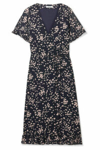 Madewell - Printed Chiffon Wrap Dress - Navy