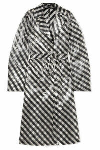 Dries Van Noten - Striped Organza Trench Coat - Black