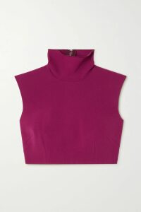 MATÉRIEL - Button-embellished Faux Leather Midi Skirt - Red