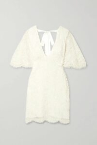LoveShackFancy - Leah Frayed Floral-print Silk-georgette Midi Dress - Pink