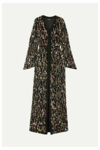 Rasario - Sequined Crepe Gown - Black