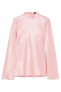 Michael Lo Sordo - Silk-satin Top - Pastel pink