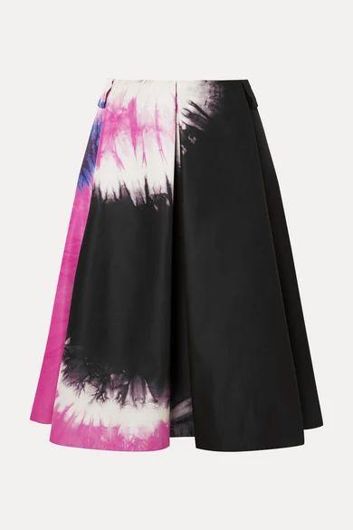 Prada - Tie-dyed Duchesse-silk Skirt - Black