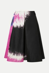 Prada - Tie-dyed Duchesse-silk Skirt - Black