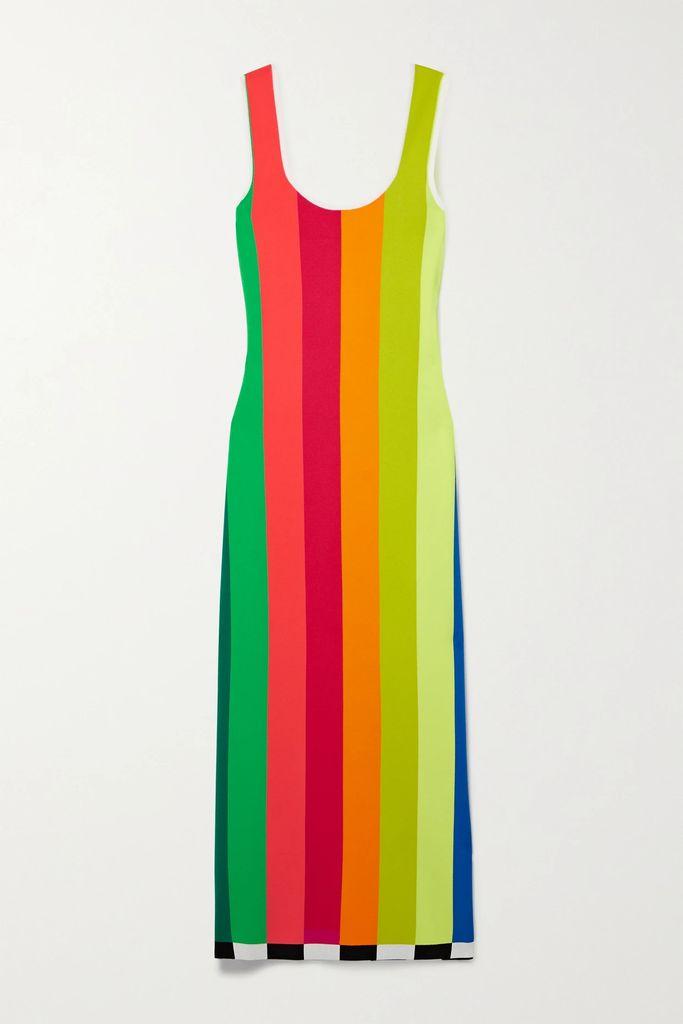 Maison Margiela - Oversized Layered Checked Wool And Cotton-blend Coat - Beige