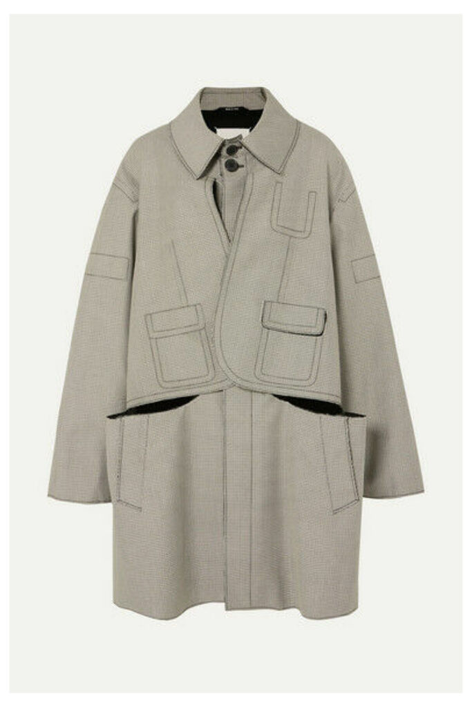 Maison Margiela - Oversized Layered Checked Wool And Cotton-blend Coat - Beige
