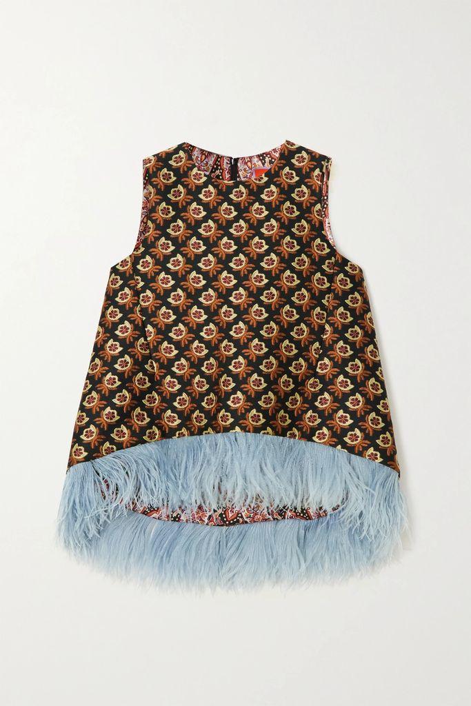 Lee Mathews - Stella Silk-satin Midi Skirt - Light blue