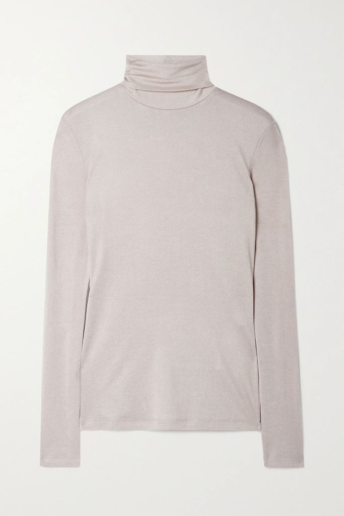 ALEXACHUNG - Printed Satin Midi Dress - Burgundy