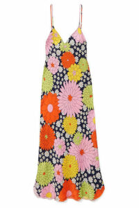 Dodo Bar Or - Cora Floral-print Silk-jacquard Dress - Papaya