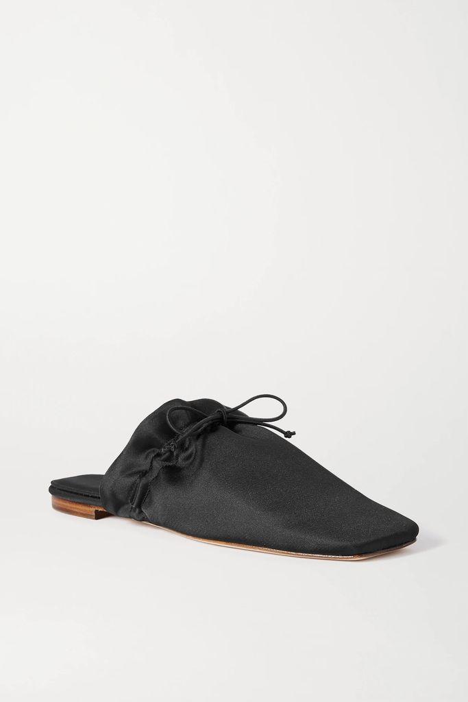 Sandy Liang - Moody Snake-print Silk Crepe De Chine Midi Skirt - Snake print