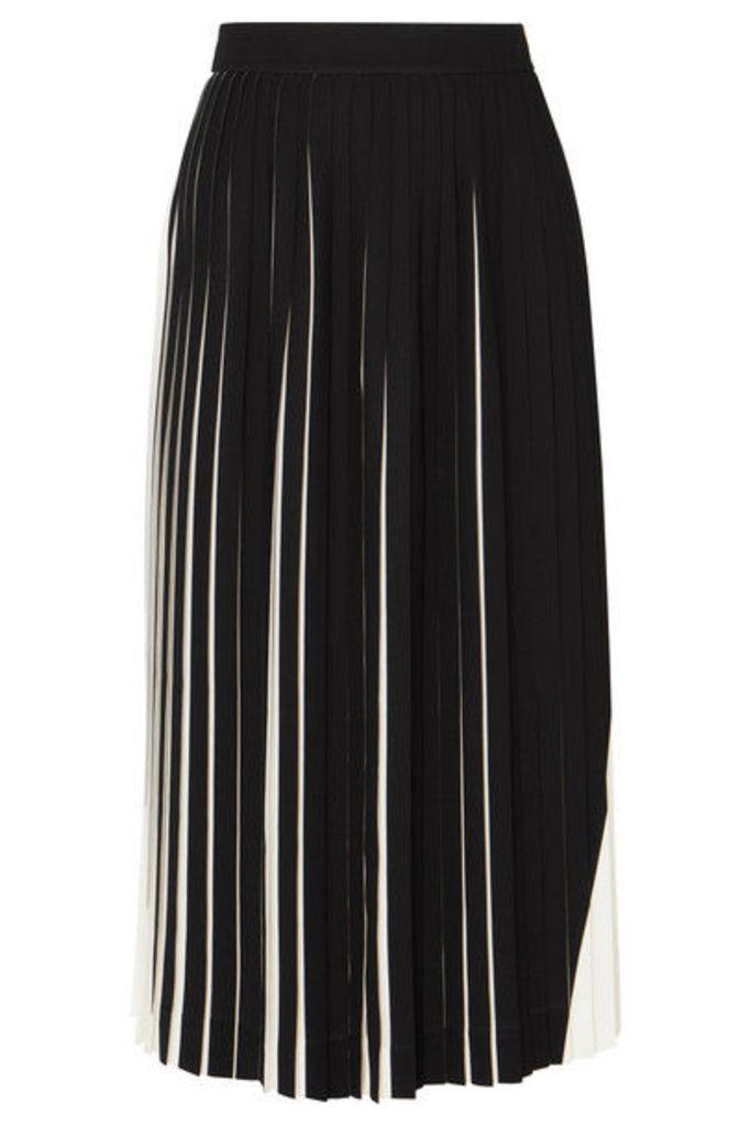 Maison Margiela - Two-tone Pleated Cady Midi Skirt - White