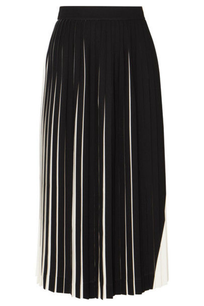 Maison Margiela - Two-tone Pleated Cady Midi Skirt - White