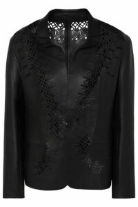 Haider Ackermann - Laser-cut Leather Blazer - Black