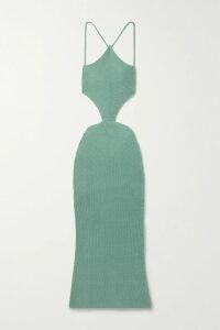 Diane von Furstenberg - Isla Ruffled Silk Crepe De Chine Wrap Dress - Neutral