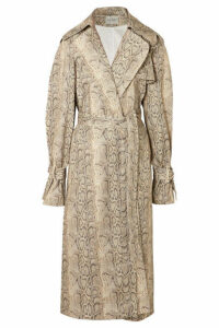A.W.A.K.E. MODE - Dana Snake-print Cotton-blend Trench Coat - Snake print