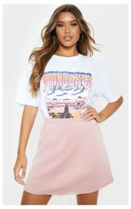 Pale Pink A-Line Mini Skirt, Pale Pink