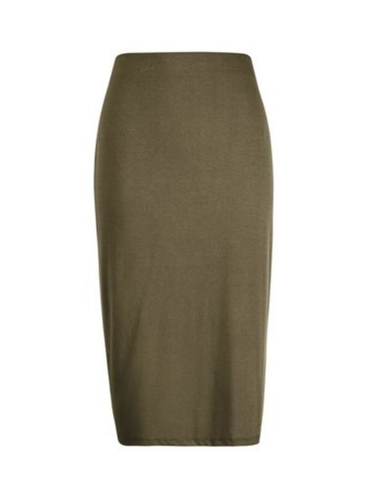 Womens Khaki Pencil Skirt- Khaki, Khaki