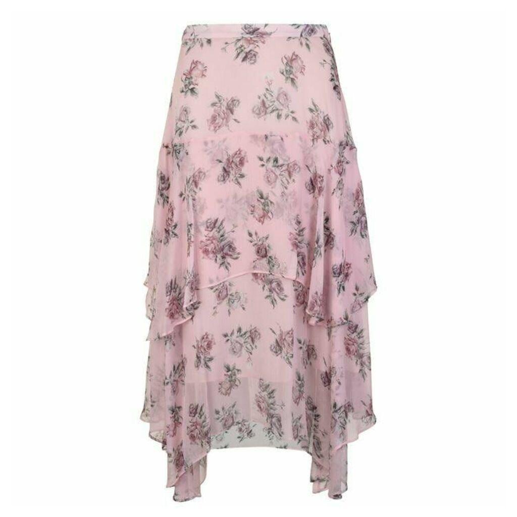 LoveshackFancy Alex Floral Skirt