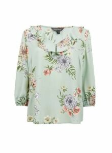 Womens **Billie & Blossom Floral Print Blouse- Green, Green