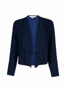 Womens **Lily & Franc Navy Waterfall Jacket- Blue, Blue