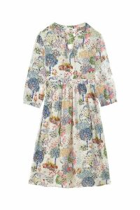 Womens Cath Kidston Cream Fearne Dream Forest Sushi Voile Midi Dress -  Cream
