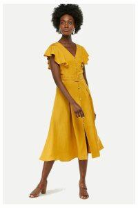Womens Monsoon Ladies Yellow Kristina Fit & Flare Dress -  Yellow