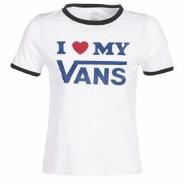 Vans  VANS LOVE RINGER  women's T shirt in White