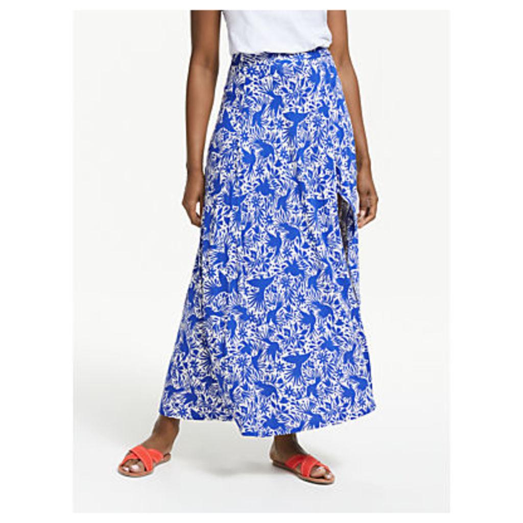 Boden Albany Jersey Skirt, Lapis Bird Ottomi