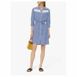 Gerard Darel Gael Stripe Shirt Dress, Blue/White