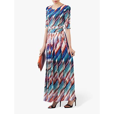 Jolie Moi Half Sleeve Print Maxi Dress, Multi