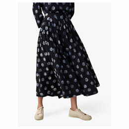 Toast Batik Dot Skirt, Deep Blue