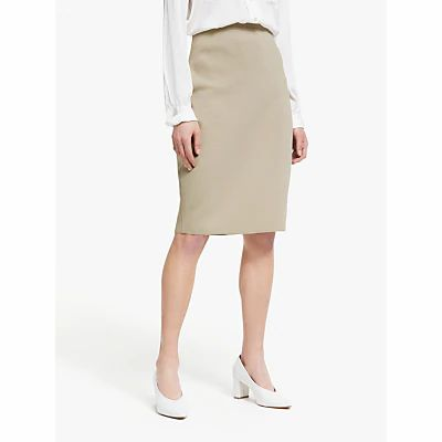 Winser London Milano Wool Pencil Skirt