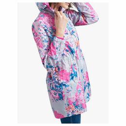Joules Golightly Pack-Away Waterproof Floral Print Parka Coat