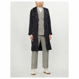 Horton drawstring-waist taffeta coat