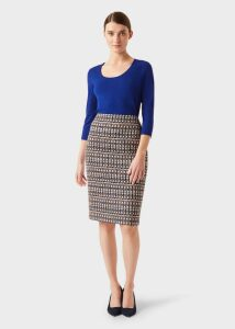 Victoria Posey Skirt Navy Multi