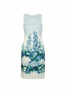 Hydrangea Shift Dress Blue Multi 16