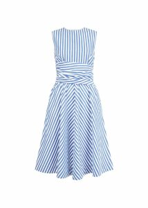 Twitchill Dress Blue White
