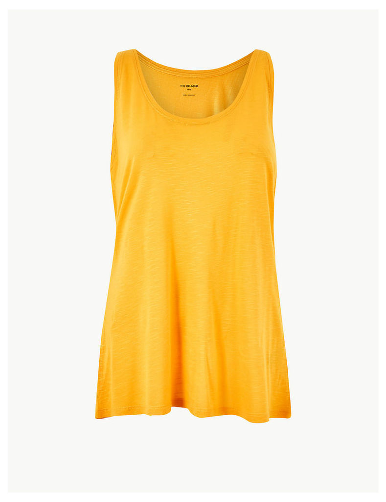 M&S Collection Relaxed Fit Slub Vest Top