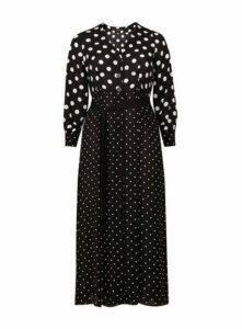 Monochrome Spot Mix And Match Dress, Black/White