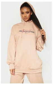 PRETTYLITTLETHING Sand Oversized Hoodie, Sand