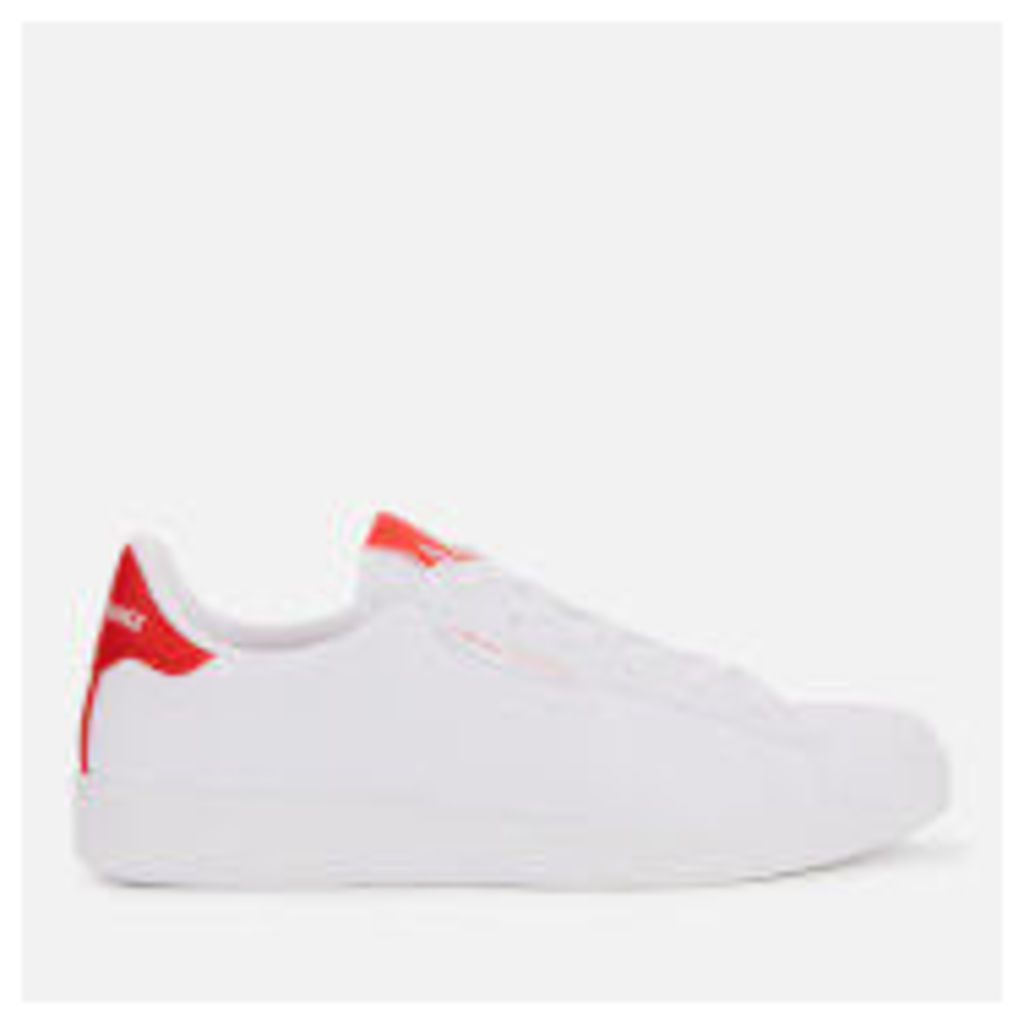 Armani Exchange Women's Canvas Low Top Trainers - White/Red